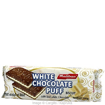 MALIBAN WHITE CHOCO: PUFF - 200GR at Kapruka Online