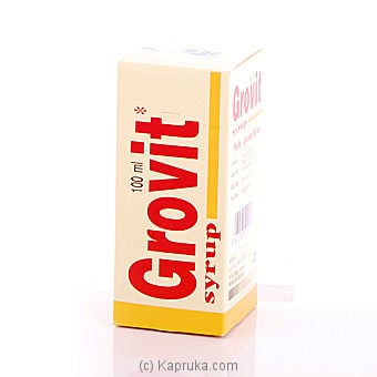 Grovit Syrup - Multi Vitamin Syrup Bottle - 100ml at Kapruka Online for specialGifts