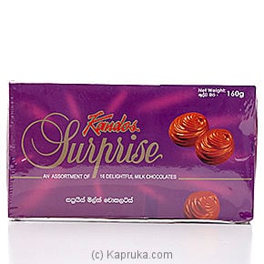 Kandos Surprise - 16 Delightful Milk Chocolate box - 160g By KANDOS at Kapruka Online forspecialGifts