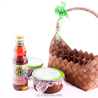 2 Curd Pots and A Bottle of MD Kithul Treacle - 750 ml at Kapruka Online for specialGifts