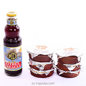 6 Mini Curd Pots and A Bottle of MD Kithul Treacle - 750 ml at Kapruka Online for specialGifts