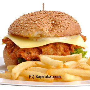 Chicken with Cheese Burger at Kapruka Online for specialGifts