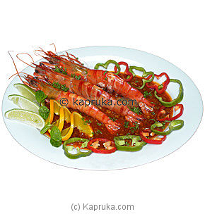 Sizzling Jumbo Prawn in Hot Garlic Sauce (500g) at Kapruka Online for specialGifts