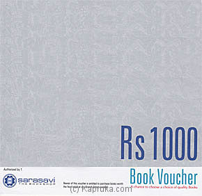 Rs 1000 Sarasavi Gift Voucher at Kapruka Online for specialGifts