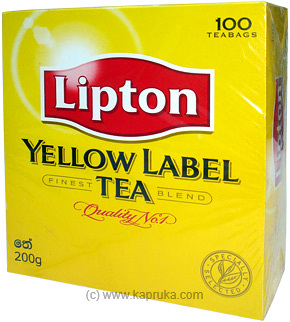 Lipton Yellow Lable Tea Pkt (100 Bags)  - 200g at Kapruka Online for specialGifts