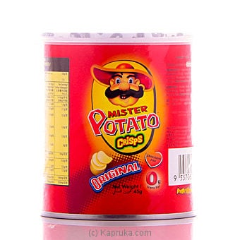Medium tin of Mr Potato Original Potato Crisp - 43g at Kapruka Online for specialGifts