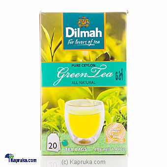 Dilmah Green Tea (20 Bags) Pkt- 40g at Kapruka Online for specialGifts