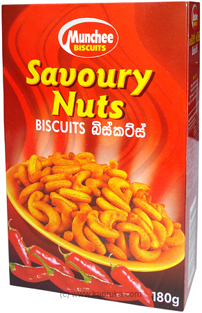 Munchee Savoury Nuts Biscuits pkt - 170g at Kapruka Online for specialGifts