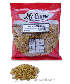 MCCURRIE Fenugreek Seed pkt  - 100g at Kapruka Online for specialGifts