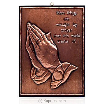 Copper Praying Hands at Kapruka Online for specialGifts