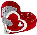Red Heart Pillow With Ash Teddy at Kapruka Online