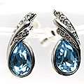 Silver Earing With Blue Stone at Kapruka Online