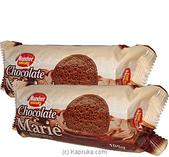 2 Pack Of Munchee Chocolate Marie Biscuits - 180g Online at Kapruka | Product# grocery00194