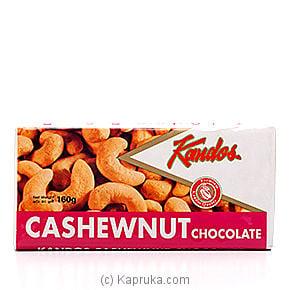 Kandos Cashewnut Chocolate - 160g Online at Kapruka | Product# chocolates00102