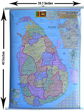 Buy sri lanka map spc school supplies sri lanka kapruka kapruka online shopping product sri lanka map gumiabroncs Choice Image