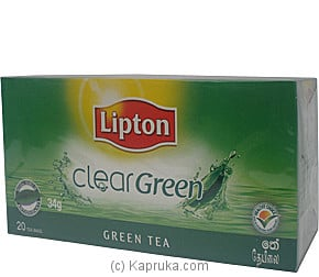 Lipton - Clear Green Tea ( 20 Bags ) Pkt - 34g Online at Kapruka | Product# grocery00280