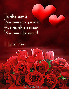 U Are My World Online at Kapruka | Product# greeting00Z345