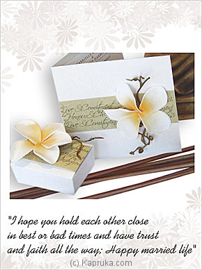 Wedding Gift Delivery Sri Lanka : Greetingcards : Wedding Greeting Card at Kapruka Sri Lanka