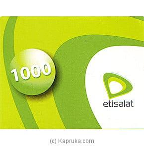 Rs 1000 Etisalat Prepaid Phone Card Online at Kapruka   Product# giftVoucher00Z119