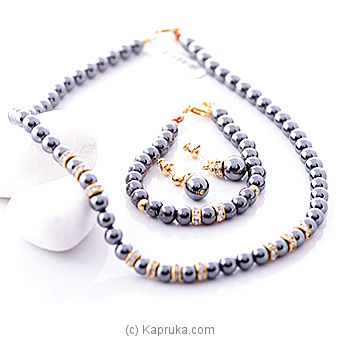 Hematite necklace set c01446/G1303/H0231 Online at Kapruka | Product# stoneNS0236