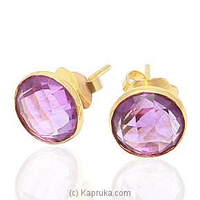 Amethysts 18kt Yellow Gold Ear Stud Online at Kapruka | Product# jewlleryCY0129