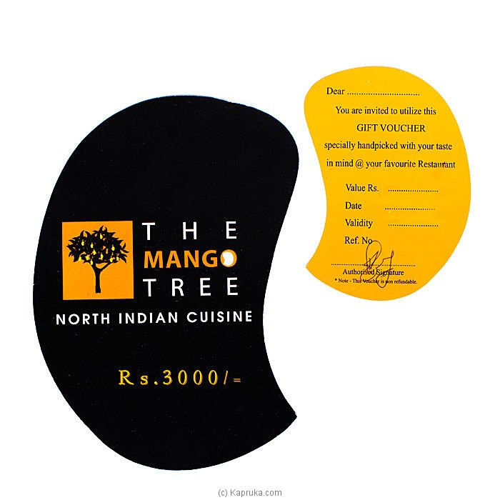 Mango tree gift voucher rs. 3000/- Online at Kapruka | Product# giftVoucher00Z141