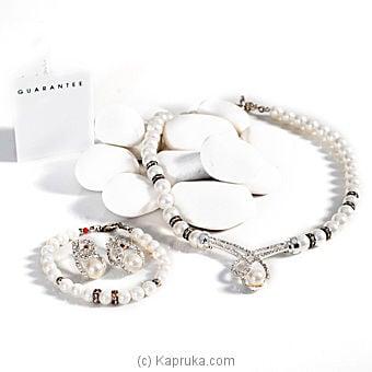 Crystal Shell Pearl Necklace Set - GP0712 Online at Kapruka | Product# stoneNS0248