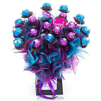 Blue Bouquet Of Ferrero Rocher By Ferrero Rocher at Kapruka Online forspecialGifts