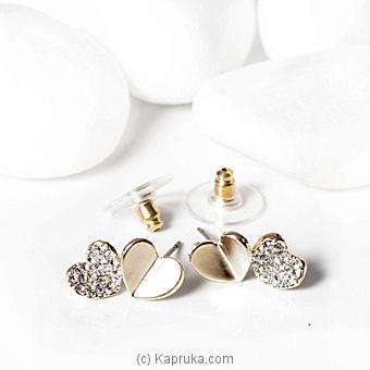 Double Heart Earing (DA0731) Online at Kapruka   Product# stoneNS0261