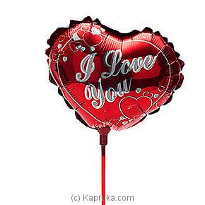 `I Love You ` Reddish Foil Baloon Online at Kapruka | Product# baloonX00117