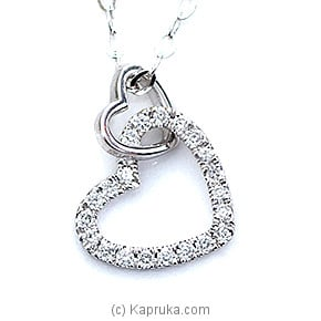 18k White Gold Pendent Set (AJP 160) Online at Kapruka | Product# alankara00131