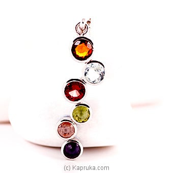 Colorful Silver Pedant With Semi Precious Stones Online at Kapruka | Product# jewllery00SK345