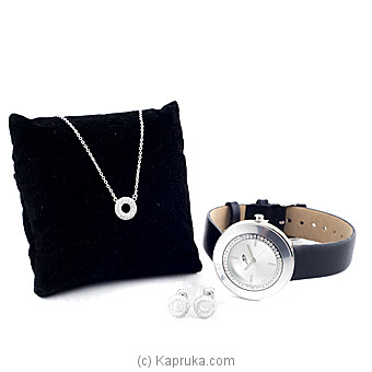 Crystal Stones Fashion Jewelry Set With Watch (6) Online at Kapruka | Product# stoneNS0278