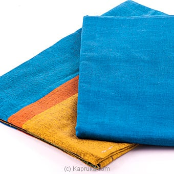 Kapruka Online Shopping Product Peacock Blue And Green Mix Lungi With Kurutha Top Materia