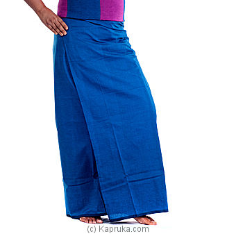 Kapruka Online Shopping Product Peacock Blue Cotton Handloom Lungi