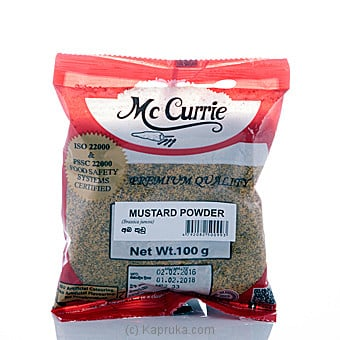 Mc Currie Mustard Powder 100g Online at Kapruka | Product# grocery00477
