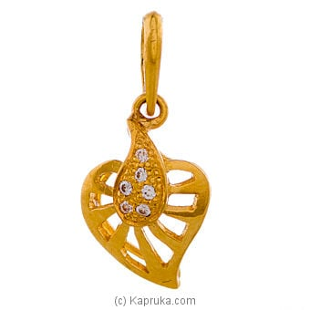 22kt Gold Pendant With Zercones Online at Kapruka | Product# jewelleryF0168