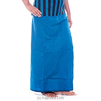 Peacock Blue Lungi With A Blouse Materiel Online at Kapruka | Product# clothing0176