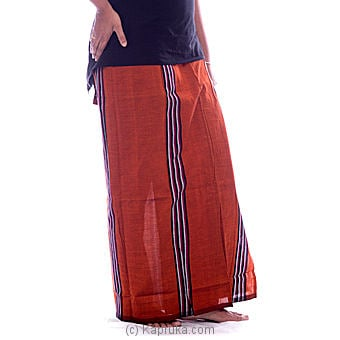 Black With Copper Brown Handloom Lungi - Kapruka Product clothing0178