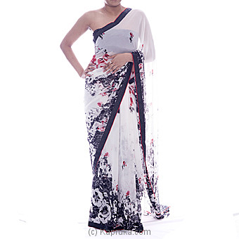 Opera Floral Printed Designer Saree - Kapruka Product clothing0187