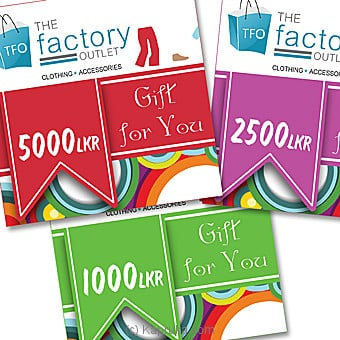 The Factory Outlet Rs 1000 Online at Kapruka | Product# giftV00Z113_TC1