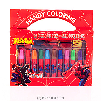 Spider Man Coloring Pen Box - Kapruka Product childrenP0241