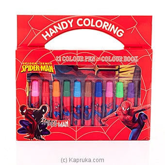 Spider Man Coloring Pen Box Online at Kapruka | Product# childrenP0241