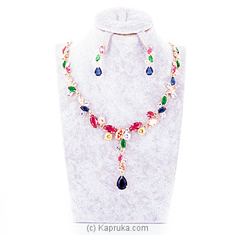 Jewelry Set With Multi Color Stones Online at Kapruka | Product# jewllery00SK447