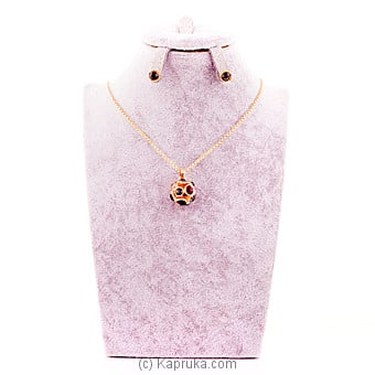Colorful Crystal Stones Necklace With Earing Online at Kapruka   Product# stoneNS0291