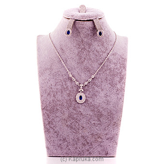 Cubic Zirconia Necklace With Pair Of Earring Online at Kapruka | Product# stoneNS0296