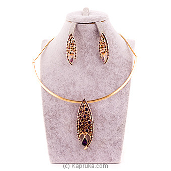 Purple Crystal Stones Jewelry Set at Kapruka Online for specialGifts