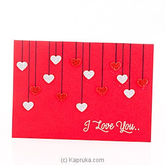 Buy Online I Love You Greeting Card Mr Creations Kapruka