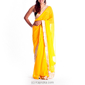 Mira Yelow Saree Online at Kapruka | Product# clothing0197