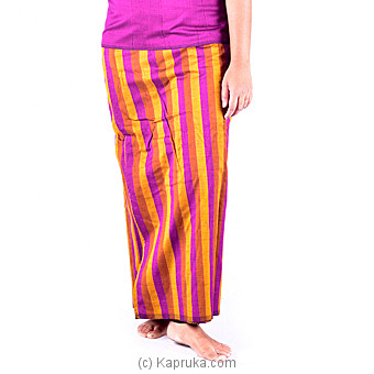 Purple And Musterd Green Lungi With Blouse Meterial Online at Kapruka | Product# clothing0219